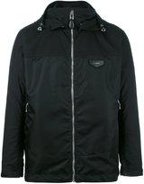 Givenchy zip jacket - men - Cotton/Calf Leather/Polyamide - 50