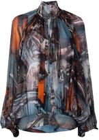 Jean Paul Gaultier printed silk blouse