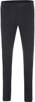 Oxford Cotton Slim Leg Trousers Navy X