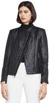 BCBGMAXAZRIA Olivia Textured Moto Jacket