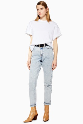 Topshop Bleach Acid Wash Mom Jeans