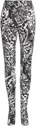 Balenciaga Zebra-Print Stretch-Crepe Leggings
