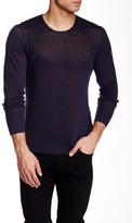 John Varvatos Crew Neck Long Sleeve Linen Sweater