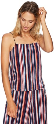 Paris Sunday Women's Spaghetti Strap Pleated Crop Camisole Top