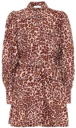 Zimmermann Leopard-print linen dress