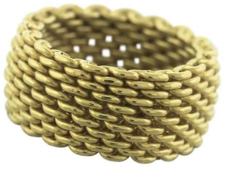 Tiffany & Co. 18K Yellow Gold Mesh Band Ring Size 6.25