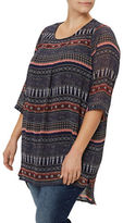 Junarose Plus Printed Hi-Lo Tunic Top