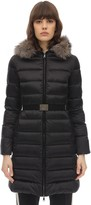 Moncler TINUV SATIN FUR DOWN JACKET