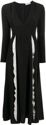 RED Valentino Ruffle Trim Maxi Dress