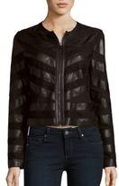 Bagatelle Striped Long Sleeve Moto Jacket