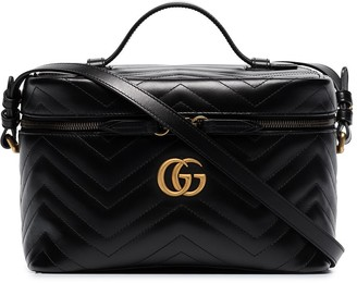 Gucci large GG Marmont leather cosmetics case