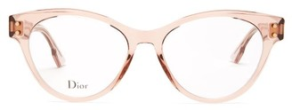 Christian Dior Diorcd4 Round Acetate Glasses - Nude