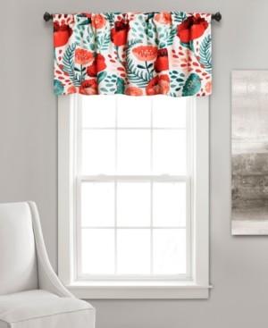 "Lush Decor Poppy Garden 52"" x 18"" Floral Window Valance"