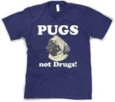 Crazy Dog T-shirts Crazy Dog Tshirts Youth Pugs not Drugs Shirt Funny Dog T-Shirt for Children L