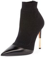 Balmain Aurore Knit Sock Bootie, Black