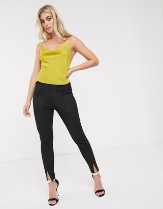 French Connection suedette leggings