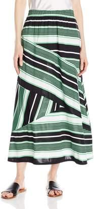 "Notations Women's Biader Stripe Printed 34"" Maxi Skirt"