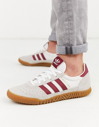 adidas indoor super trainers with gum sole-White