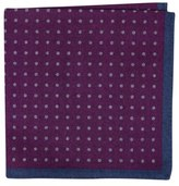 Ted Baker Paisley Dot Double Sided Wool Pocket Square