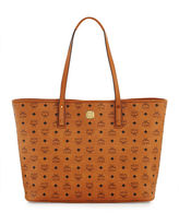 MCM Anya Large Zip Shopper Tote Bag