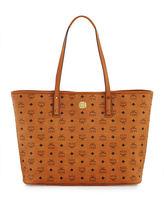 MCM Anya Large Zip Shopper Tote Bag
