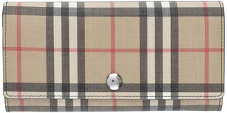 Burberry Checked Fabric Wallet