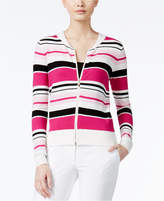 XOXO Juniors' Striped Knit Bomber Jacket