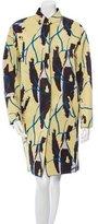 Cédric Charlier Printed Neoprene Coat w/ Tags