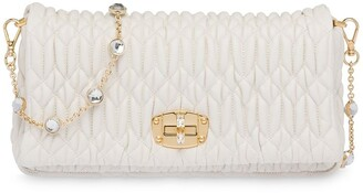 Miu Miu Miu crystal matelasse shoulder bag