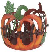 "SONOMA Goods for LifeTM Large ""Thankful"" Pumpkin Candle Jar Holder"