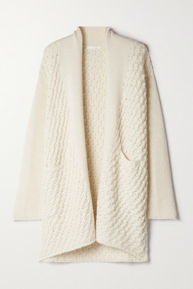 Skin Amaya Paneled Alpaca-blend Cardigan - Cream