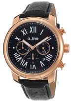 A Line a_line Women's AL-80163-RG-01 Amor Analog Display Japanese Quartz Black Watch
