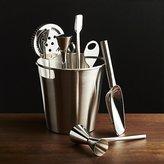 Crate & Barrel Bar Tool Set Silver