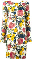Fausto Puglisi floral print dress - women - Silk/Cotton/Spandex/Elastane/Viscose - 40