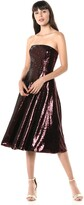 Dress the Population Women's Ruby Strapless Fit & Flare Sequin Midi Dress