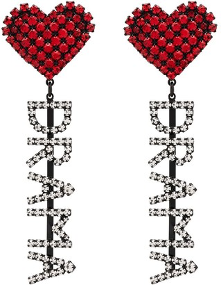 Ashley Williams Drama crystal-embellished earrings
