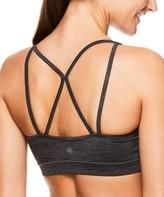 Gaiam Women's Bras CHARCOAL - Charcoal Heather Shine Sports Bra