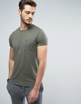 Jack Wills Ayleford Logo Pocket Slim Fit T-Shirt in Khaki