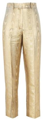 Racil Michael Moire Cigarette Trousers - Gold