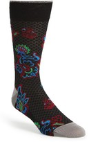 Bugatchi Men's 'Brocade Flower' Socks