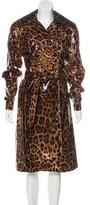 Dolce & Gabbana Leopard Print Trench Coat w/ Tags