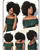 """Beauty&youth United Arrows Youth Beuaty 4b 4c Afro Kinky Curly 360 Lace Frontal Wig 150% Density Full Lace Band Human Hair Wigs For Black Women Pre Plucked Hairline with Baby Hair 14"""""""