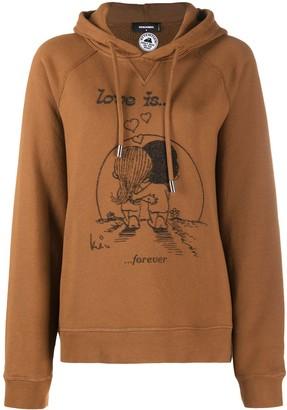 DSQUARED2 Love Is print hoodie