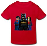 Flycro RenHe Toddler Geek Batman Superman Superwoman Lego T-shirts