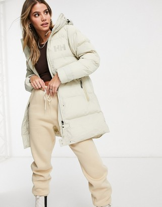 Helly Hansen Adore puffer parka jacket in white