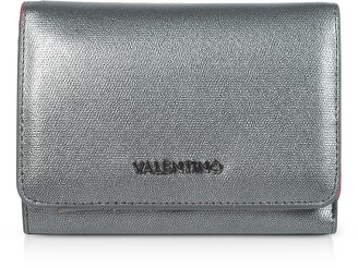 Valentino By Mario Valentino Marilyn Metallic Eco Leather Small Flap Wallet