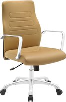 LexMod EEI-1531-TAN Depict Mid Back Aluminum Office Chair