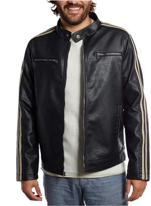 Distortion Polyurethane Jacket with Arm Stripes