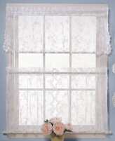 "Petite Fleur Saturday Knight CLOSEOUT! Saturday Knight Pair of 28"" x 24"" Cafe Curtains"