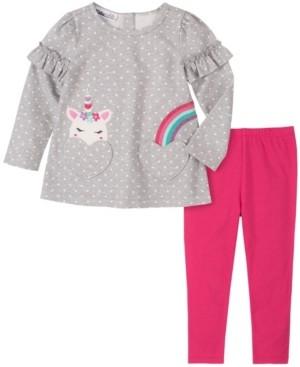 Kids Headquarters Baby Girls Heart Tunic Legging Set